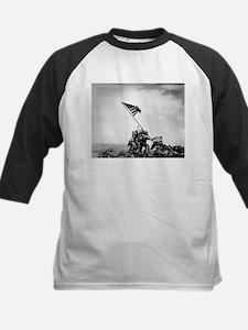 Iwo Jima, raising the flag Baseball Jersey