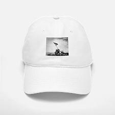 Iwo Jima, raising the flag Baseball Baseball Cap