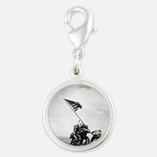 Iwo Jima, raising the flag Charms