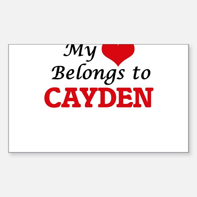 My heart belongs to Cayden Decal