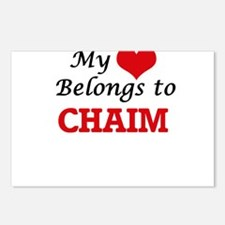 My heart belongs to Chaim Postcards (Package of 8)