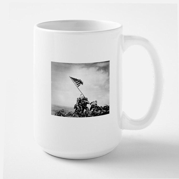 Iwo Jima, raising the flag Mugs