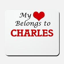 My heart belongs to Charles Mousepad