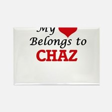 My heart belongs to Chaz Magnets