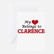 My heart belongs to Clarence Greeting Cards