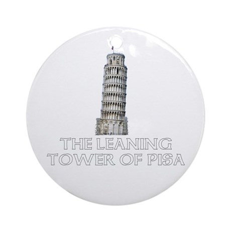 The Leaning Tower of Pisa Ornament (Round)