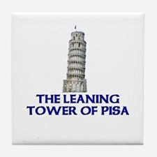 The Leaning Tower of Pisa Tile Coaster