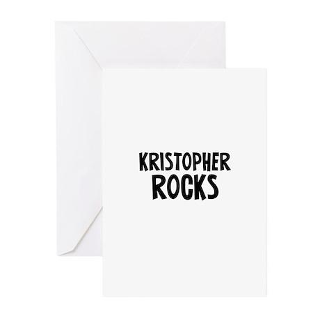 Kristopher Rocks Greeting Cards (Pk of 10)