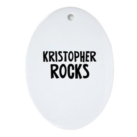 Kristopher Rocks Oval Ornament