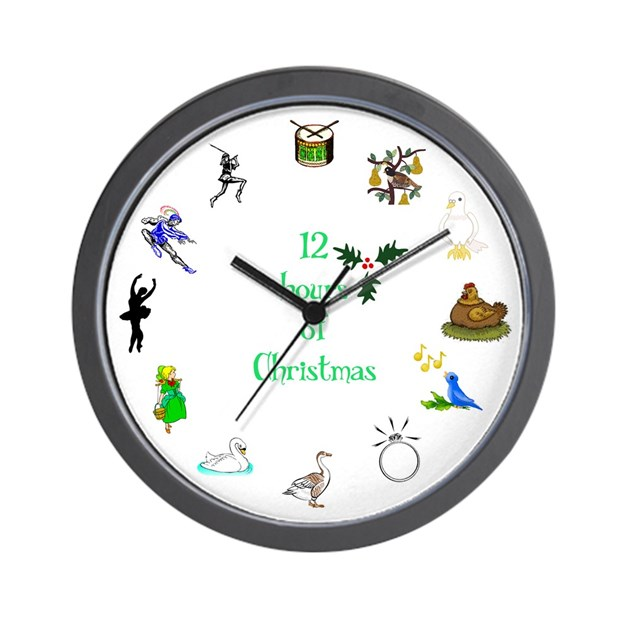 Hours of christmas wall clock by nerdtopia