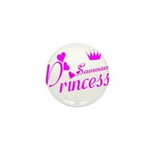 Samoan princess Mini Button