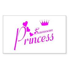 Samoan princess Rectangle Decal