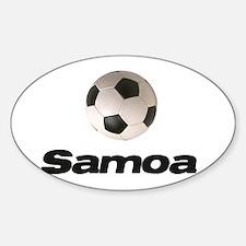 Samoa soccer Oval Decal