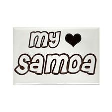 my heart Samoa Rectangle Magnet