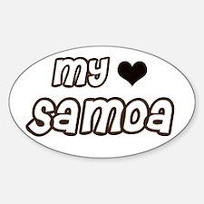 my heart Samoa Oval Decal