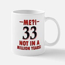 33 Not In A Million Years Birthday Desi Mug