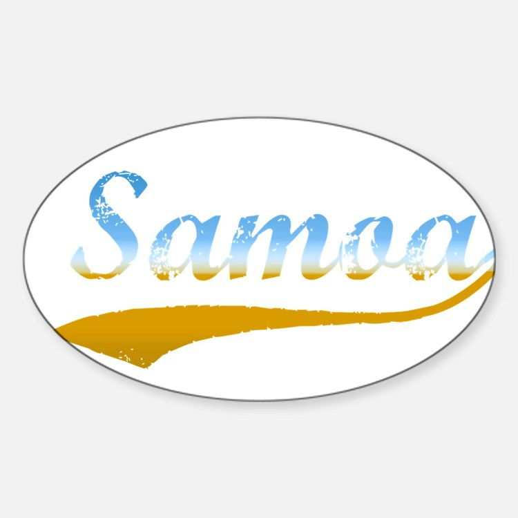 Samoa beach flanger Oval Decal