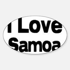 I love Samoa Oval Decal