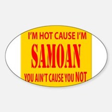 hot Samoa Oval Decal