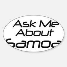 Ask me about Samoa Oval Decal