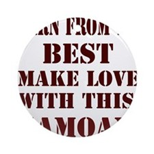 Funny Made samoa Ornament (Round)