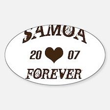 Samoa Forever Oval Decal