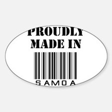 proudly made in Samoa Oval Decal