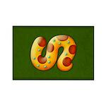 Fiery Maya Jaguar Tail Rectangle Magnet (10 pack)