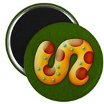 "Fiery Maya Jaguar Tail 2.25"" Magnet (100 pack)"