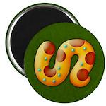Fiery Maya Jaguar Tail Magnet