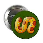 "Fiery Maya Jaguar Tail 2.25"" Button (100 pack)"