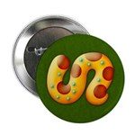 "Fiery Maya Jaguar Tail 2.25"" Button"