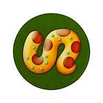"Fiery Maya Jaguar Tail 3.5"" Button (100 pack)"