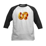 Fiery Maya Jaguar Tail Kids Baseball Jersey