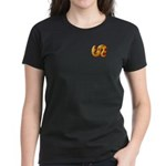 Fiery Maya Jaguar Tail Women's Dark T-Shirt