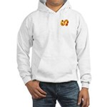 Fiery Maya Jaguar Tail Hooded Sweatshirt