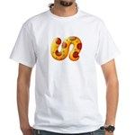 Fiery Maya Jaguar Tail White T-Shirt