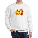 Fiery Maya Jaguar Tail Sweatshirt