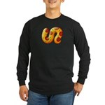 Fiery Maya Jaguar Tail Long Sleeve Dark T-Shirt