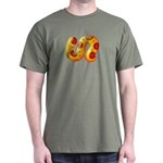 Fiery Maya Jaguar Tail Dark T-Shirt