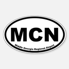 Middle Georgia Regional Airport Oval Decal