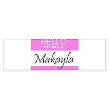 Makayla Bumper Car Sticker