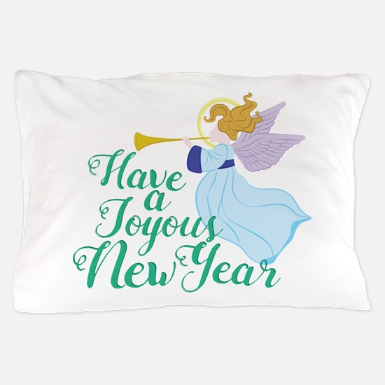 Joyous New Year Pillow Case