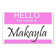 Makayla Rectangle Decal