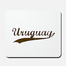 Vintage Uruguay Retro Mousepad