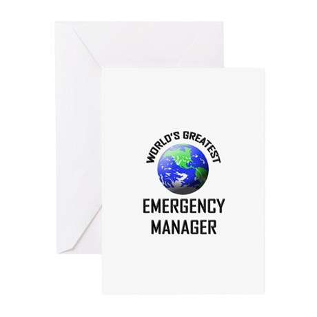 World's Greatest EMERGENCY MANAGER Greeting Cards