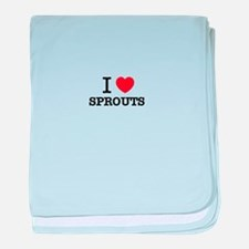 I Love SPROUTS baby blanket