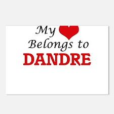 My heart belongs to Dandr Postcards (Package of 8)