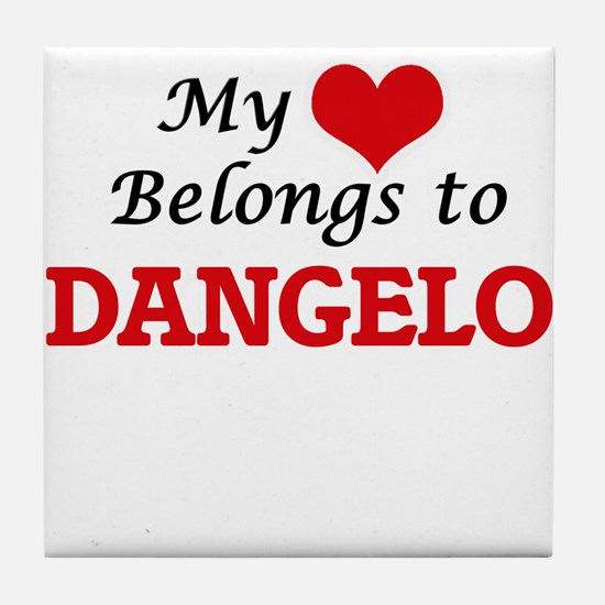 My heart belongs to Dangelo Tile Coaster