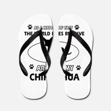 Chihuahua Dog Awesome Designs Flip Flops